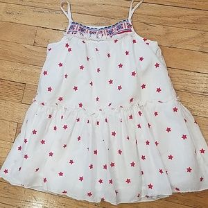 COPY - Girls white dress with red stars